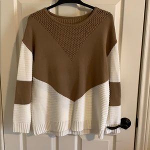 Long Sleeve Crew Neck Pullover Loose Knit Sweater